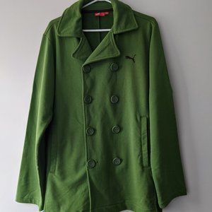 Puma Sweatshirt Pea Coat Green Size Medium